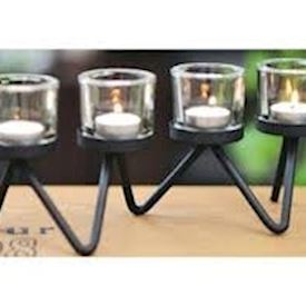 4 Glass Candle Holder