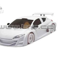 SCE001 - Renault Megane Trophy 2010 White for paint - TRPscale