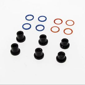 MR2056F DOUBLE A ARM DELRIN SPRING HOLDER KIT PN RACING