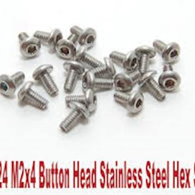 700324 PN Racing M2x4 Button Head Stainless Steel Hex Machine Screw (20pcs)