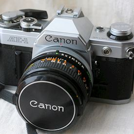 Canon AE-1 med 50mm f1.8