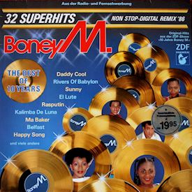 (LP) Boney M. ‎– The Best Of 10 Years