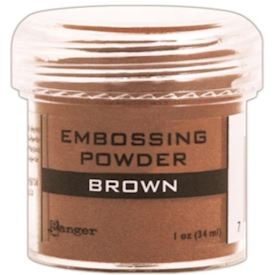 Embossing, Brown