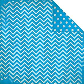 Dot Chevron, Brilliant Blue