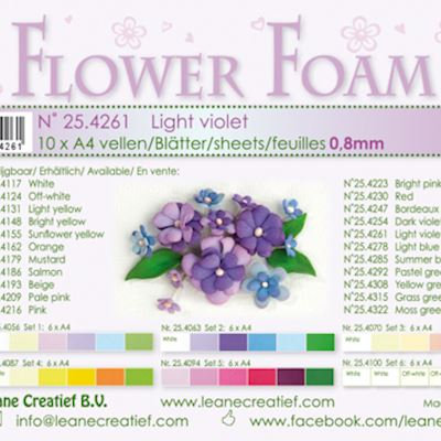 Flower foam, Light Violet