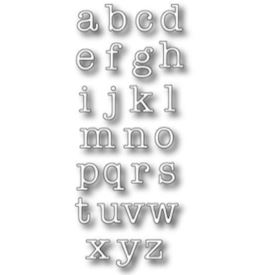 Typewriter Lower Alphabet Set.
