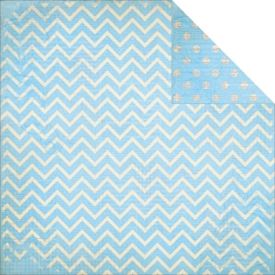 Dot Chevron, Powder Blue