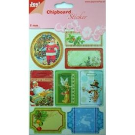 Chipboard stickers christmas