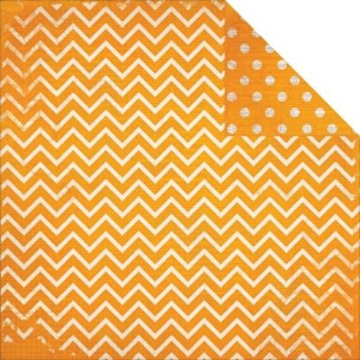Dot Chevron, Orange Citrus