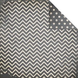 Dot Chevron, Charcoal