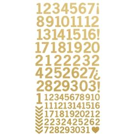 Numbers, Metallic Gold