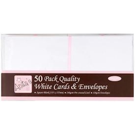 Anitas Square Cards/Envelopes, white