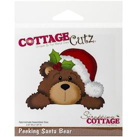 CottageCutz, Peeking Santa Bear