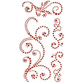 Jewel Swirls, Red