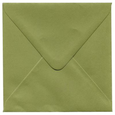 Envelopes 14 x 14cm Olive Green