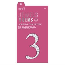 Adhesive Gem Number - 3
