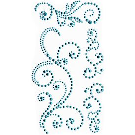 Jewel Swirls, Teal Blue