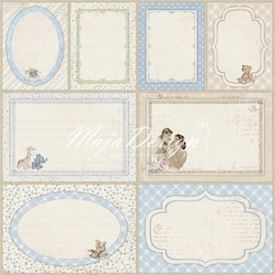 Vintage Baby - Journaling cards blue