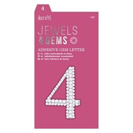 Adhesive Gem Number - 4