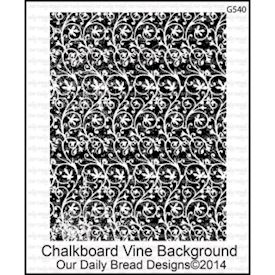 Chalkboard Vine Background