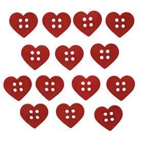 Sew Cute Red Hearts
