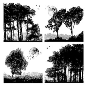 Four Tree Landscapes
