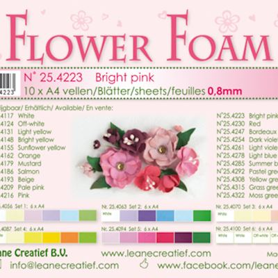 Flower foam, Bright pink
