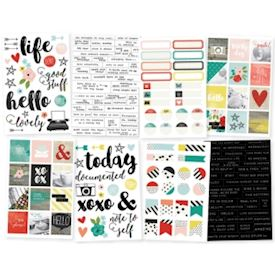 "Life In Color Stickers 4""X6"" Sheets 8/Pkg"
