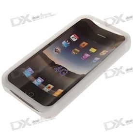 Protective Silicone Case for iPhone 4 - White