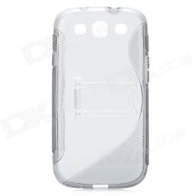 Protective Back Case with Stand Holder for Samsung Galaxy S3 i9300 - Grey