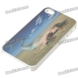 Protective PC Back Case with 3D Graphic for Iphone 4 - Mermaid