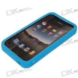 Protective Silicone Case for iPhone 4 - Blue