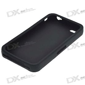 Protective Silicone Case for iPhone 4 - Black