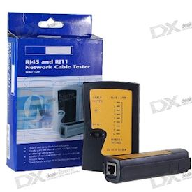 RJ45/RJ11 Network and Telephone Cable Tester