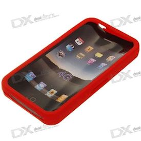 Protective Silicone Case for iPhone 4 - Red