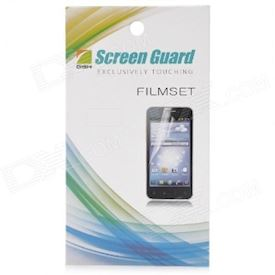 Protective Mirror Screen Protector Guard Film for iPhone 5 - Transparent White