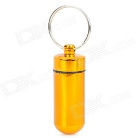 Mini Aluminum Alloy Pill Storage Container Keychains