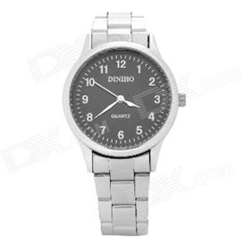 DINIHO Fashion Lady's Stainless Steel Round Dial Quartz Wrist Watch