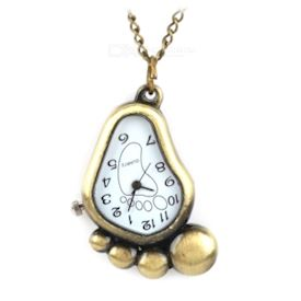 Retro Little Foot Style Quartz Pocket Watch - Bronze