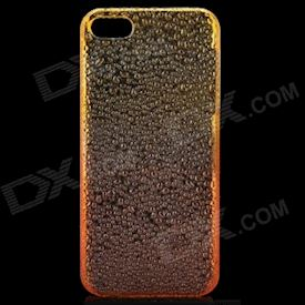Protective ABS Raindrop Back Cover Case for iPhone 5 - Transparent Orange