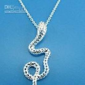 925 silver Lovely snake silver necklace fashion jewelry - 18""