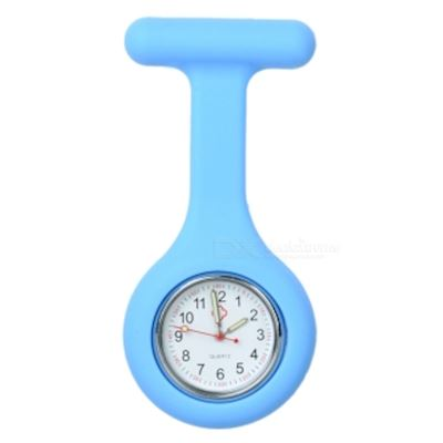 Silicone Brooch/Lapel Nurse Quartz Watch - Blue