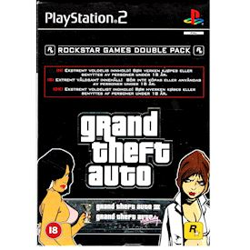 GRAND THEFT AUTO DOUBLE PACK GTA III & VICE CITY PS2