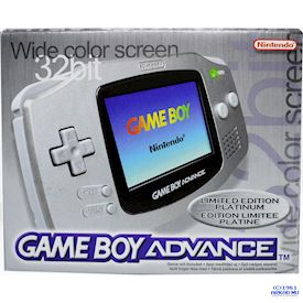 GAMEBOY ADVANCE LIMITED EDITION PLATINUM SCN