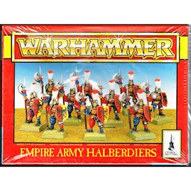 EMPIRE ARMY HALBERDIERS WARHAMMER GAMES WORKSHOP 1994