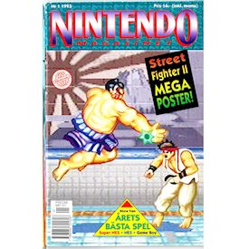 NINTENDO MAGASINET NR 1 1993 MED POWER PLAYER