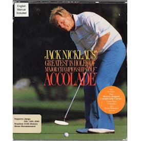 JACK NICKLAUS GREATEST 18 HOLES OF MAJOR CHAMPIONSHIP GOLF AMIGA