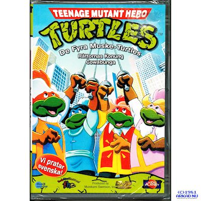 TEENAGE MUTANT HERO TURTLES DE FYRA MUSKE TURTLES 4/7 DVD