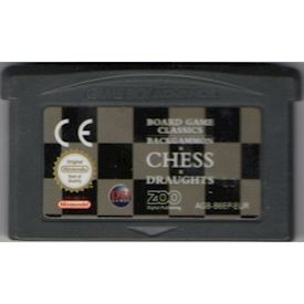 BOARD GAME CLASSICS BACKGAMMON CHESS DROUGHTS GAMEBOY ADVANCE