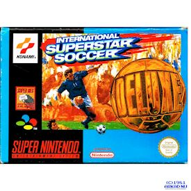 INTERNATIONAL SUPERSTAR SOCCER DELUXE SNES MED SVENSKT HÄFTE A4